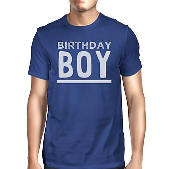 Birthday Boy Clothes Mens Blue Short Sleeve Birthday Party T-shirt