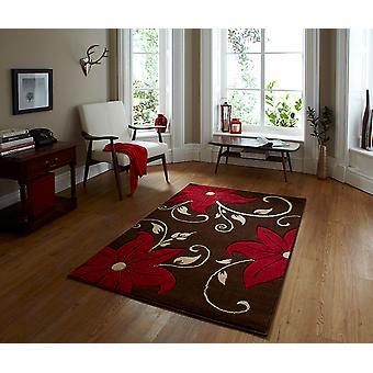 Verona OC15 braun - rötlich braun und rot Rechteck Teppiche moderne Teppiche