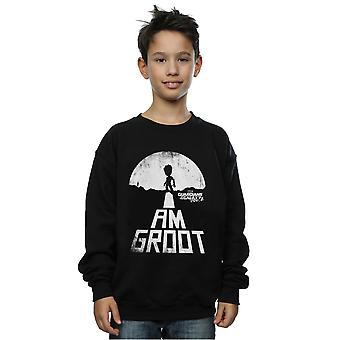 Marvel Boys Guardians of the Galaxy I Am Groot White Sweatshirt