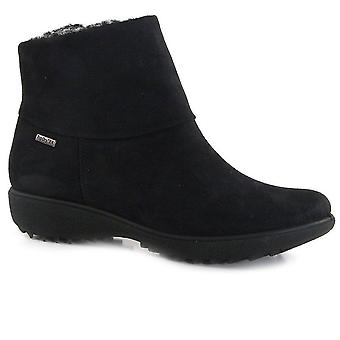 Romika Nina Ladies Black Waterproof Suede Look Ankle Boot