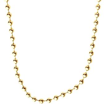 925 Sterling Silver Bling Chain - BALL 4mm gold