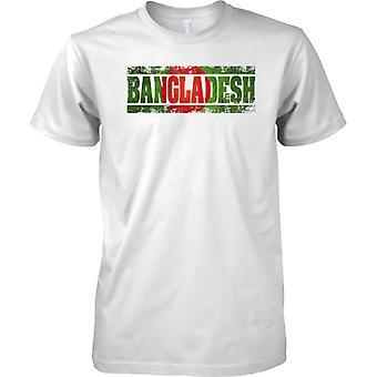 Bangladesch-Grunge Land Name Flag-Effekt - Kinder T Shirt