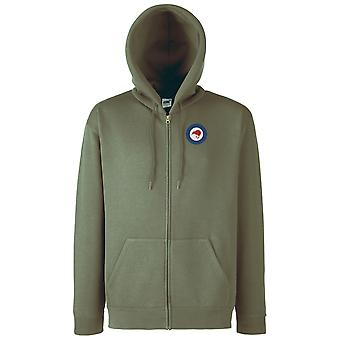 Royal New Zealand Air Force Roundel ricamato Logo - giacca con cappuccio con zip