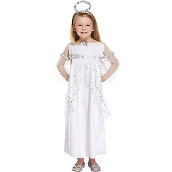 Children's Girls Christmas Angel Nativity Fancy Dress Costume