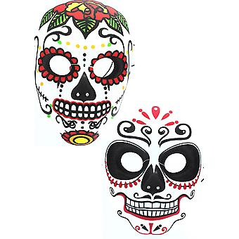 Day Of The Dead Adults Halloween Skeleton Masquerade Mask Fancy Dress Accessory