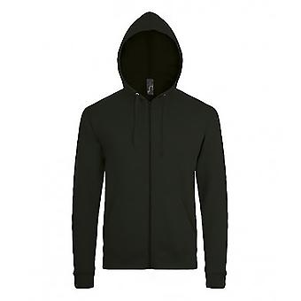 SOLS Mens Stone Zip Up Plain Hoodie