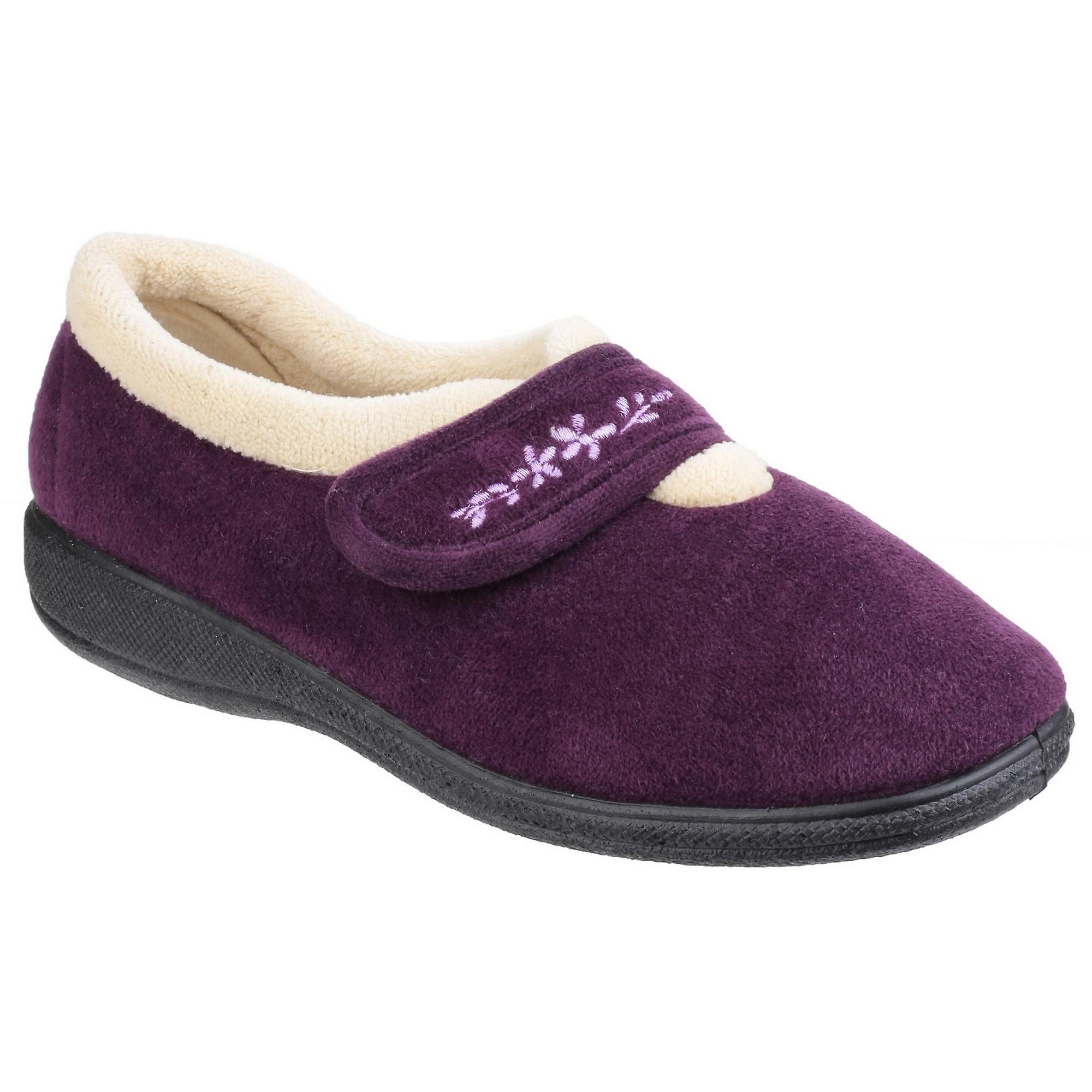 Fleet & Foster Womens/Ladies Capa Floral Touch Fasten Slippers