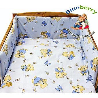 BlueberryShop 2 pcs BABY COT BED BUNDLE BEDDING SET DUVET+PILLOW COVERS 90 x 120 cm (35.5