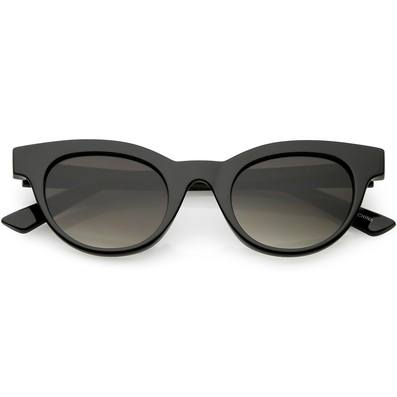 frauen horn umrandeten cat eye sonnenbrille neutral farbige allround objektiv cat eye. Black Bedroom Furniture Sets. Home Design Ideas