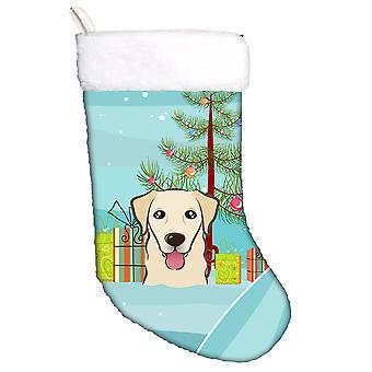 Albero di Natale e calza di Natale di Golden Retriever