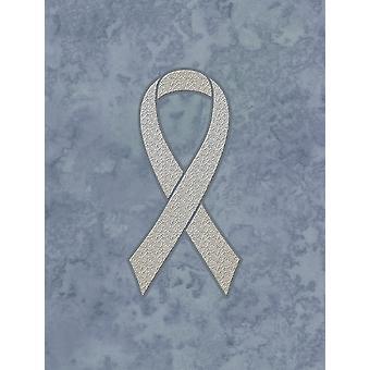 الشريط واضح لسرطان الرئة الوعي العلم قماش حجم البيت
