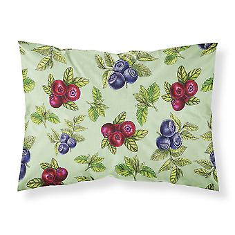 Berries in Green Fabric Standard Pillowcase