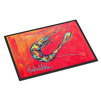 Carolines Treasures  MW1097MAT Shrimp Seafood Three Indoor or Outdoor Mat 18x27