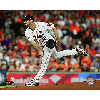 Justin Verlander gra 2 2017 American League Championship Series Photo Print