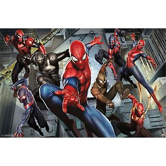 Ultimate Spider-Man - caratteri Poster Poster Print