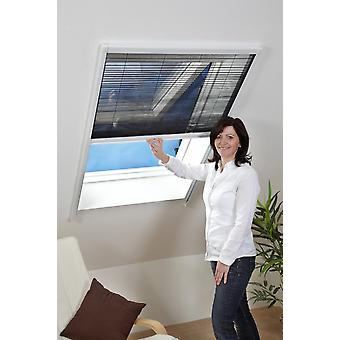 Fly mesh mosquito protection insect protection roof window sheet 110 x 160 cm in white