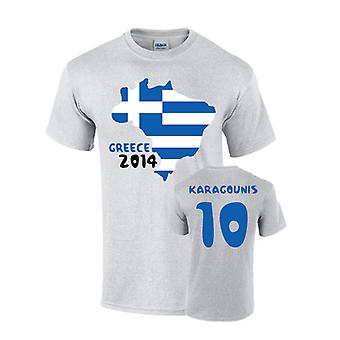Hellas 2014 land flagg T-shirt (karagounis 10)