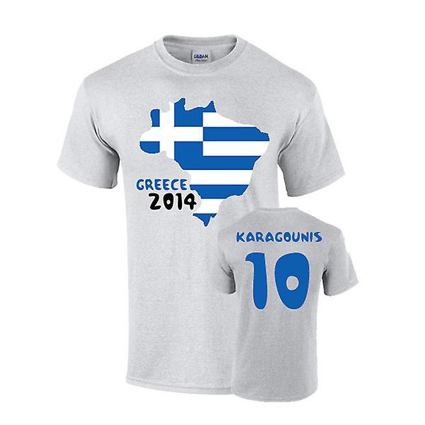 Grekland 2014 land flagga T-shirt (karagounis 10)