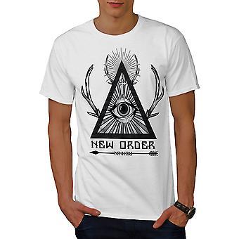 New World Order Men WhiteT-shirt   Wellcoda