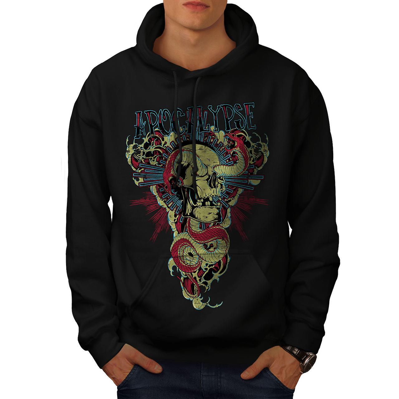 Apocalypse Beast Skull Men Black Hoodie | Wellcoda