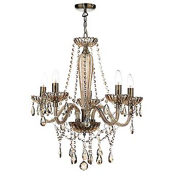 Raphael 5 Light Chandelier Champagne ROH07