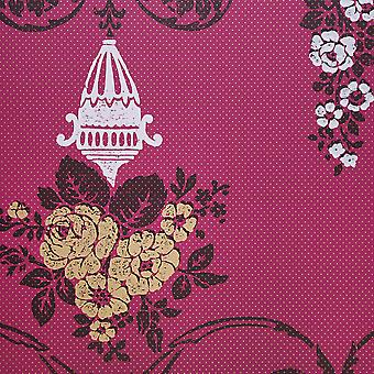Designers Guild Pink Wallpaper Roll - Patterned Pink Trianon Design - P478/04