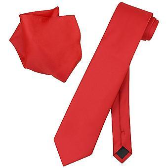 Vesuvio Napoli solide EXTRALANGE Krawatte Taschentuch Mens Hals Krawatte Set