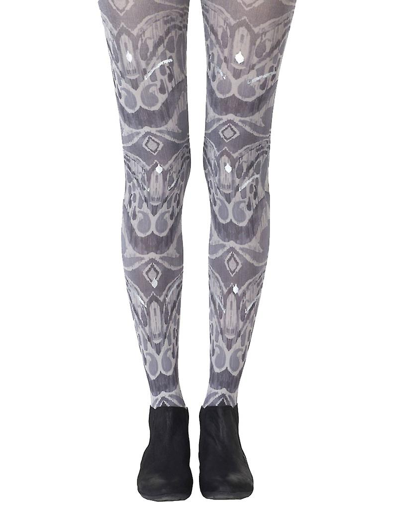 Zohara ZOF450-LGBS Women's Silver Haze Grey Fashion Tights