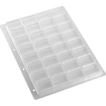 Punched pockets (L x W x H) 305 x 231 x 16.8 mm Weltron 902100 No. of compartments: 32 fixed compartments