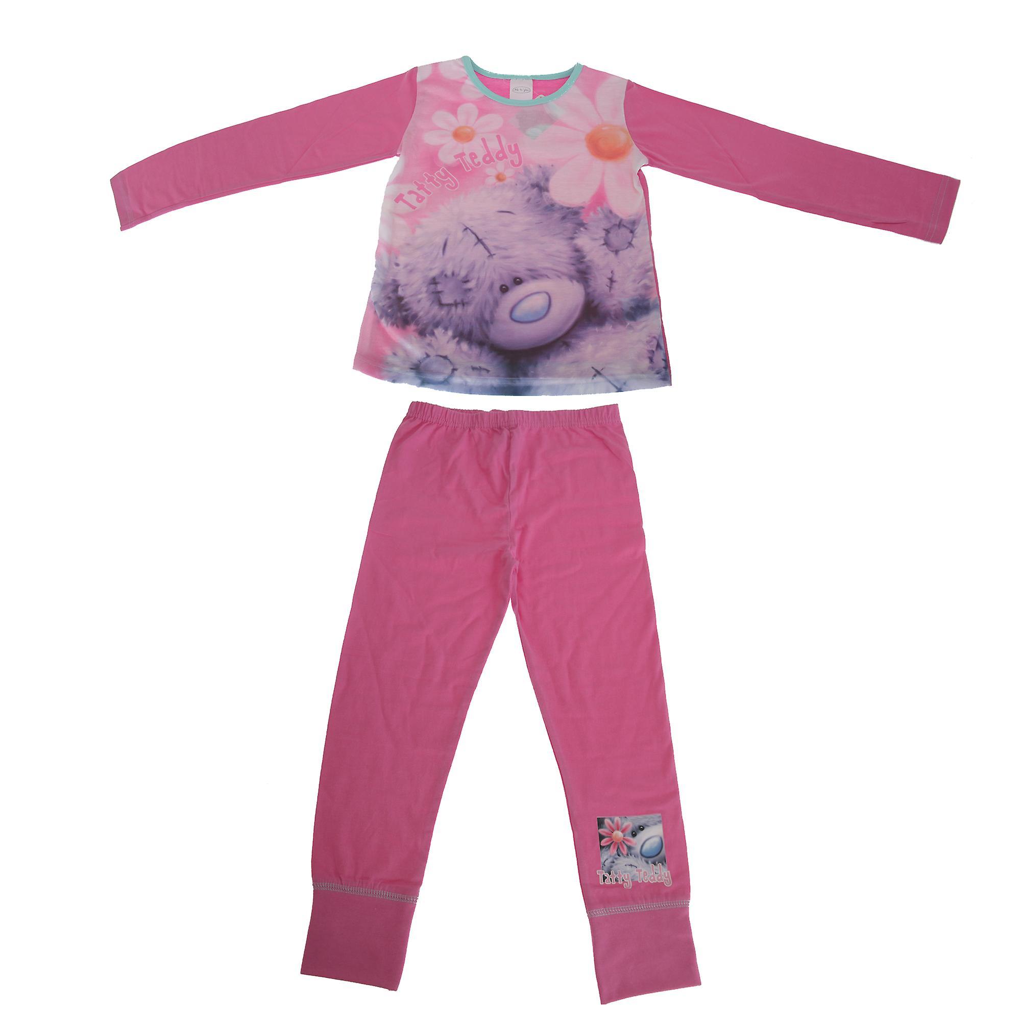 Me To You Childrens Girls Tatty Teddy Flowers Pyjama Set