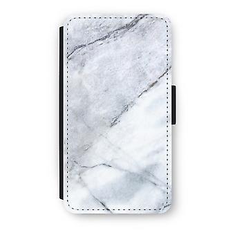 Samsung Galaxy A3 (2017) Flip Case - marmor hvit