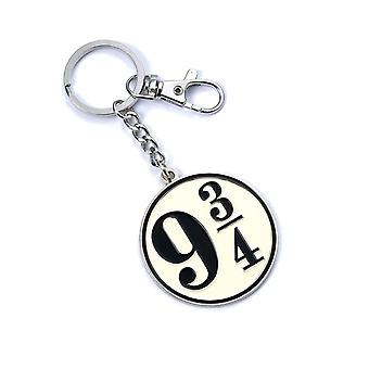 Harry Potter Keyring Platform 9 3/4 new Official silver plated keychain
