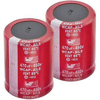 Electrolytic capacitor Snap-in 10 mm 470 µF 450 V