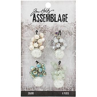 Tim Holtz Assemblage Charms 4/Pkg-Beaded Clusters THA20149