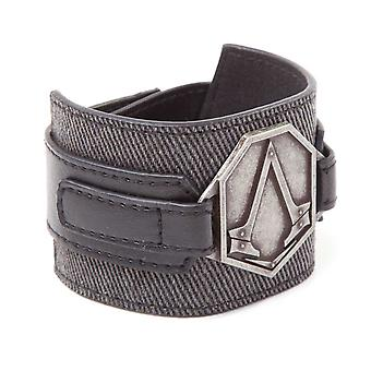 Assassins Creed Wristband Syndicate Metal Patch logo new Official PS4 Xbox Grey