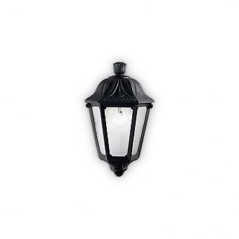 Ideal Lux Anna Black Resin Traditional Porch Flush Wall Lantern