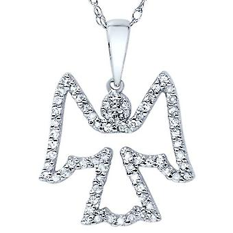 1 / 4ct Diamond engel hanger 14K White Gold