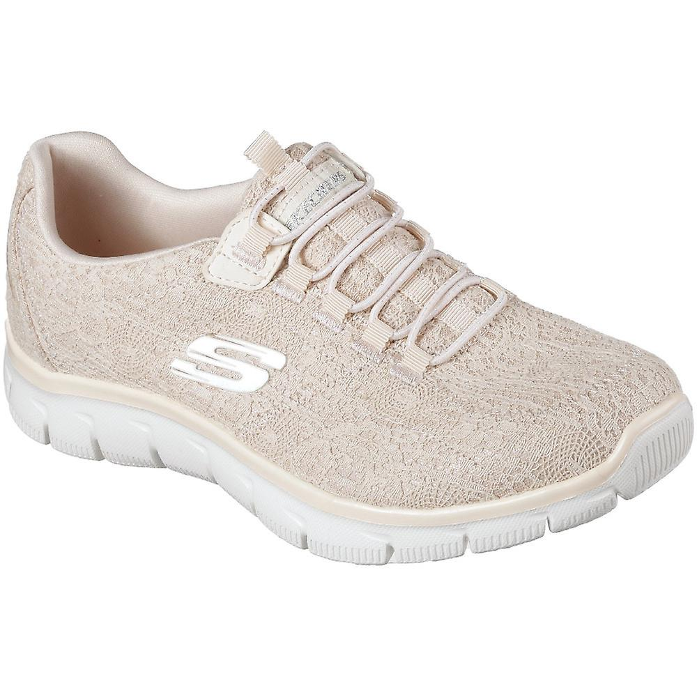 Skechers WomensLadies Empire Spring Glow Memory Foam Trainers Shoes