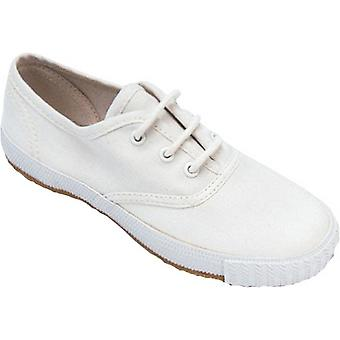 Mirak Ladies Morris Lace-Up Textile Plimsoll Sneaker Trainer White