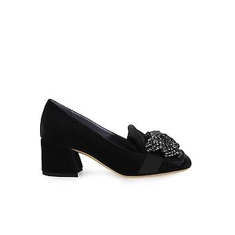 G DI G VELVET HEELED MOCCASIN WITH RIBBON