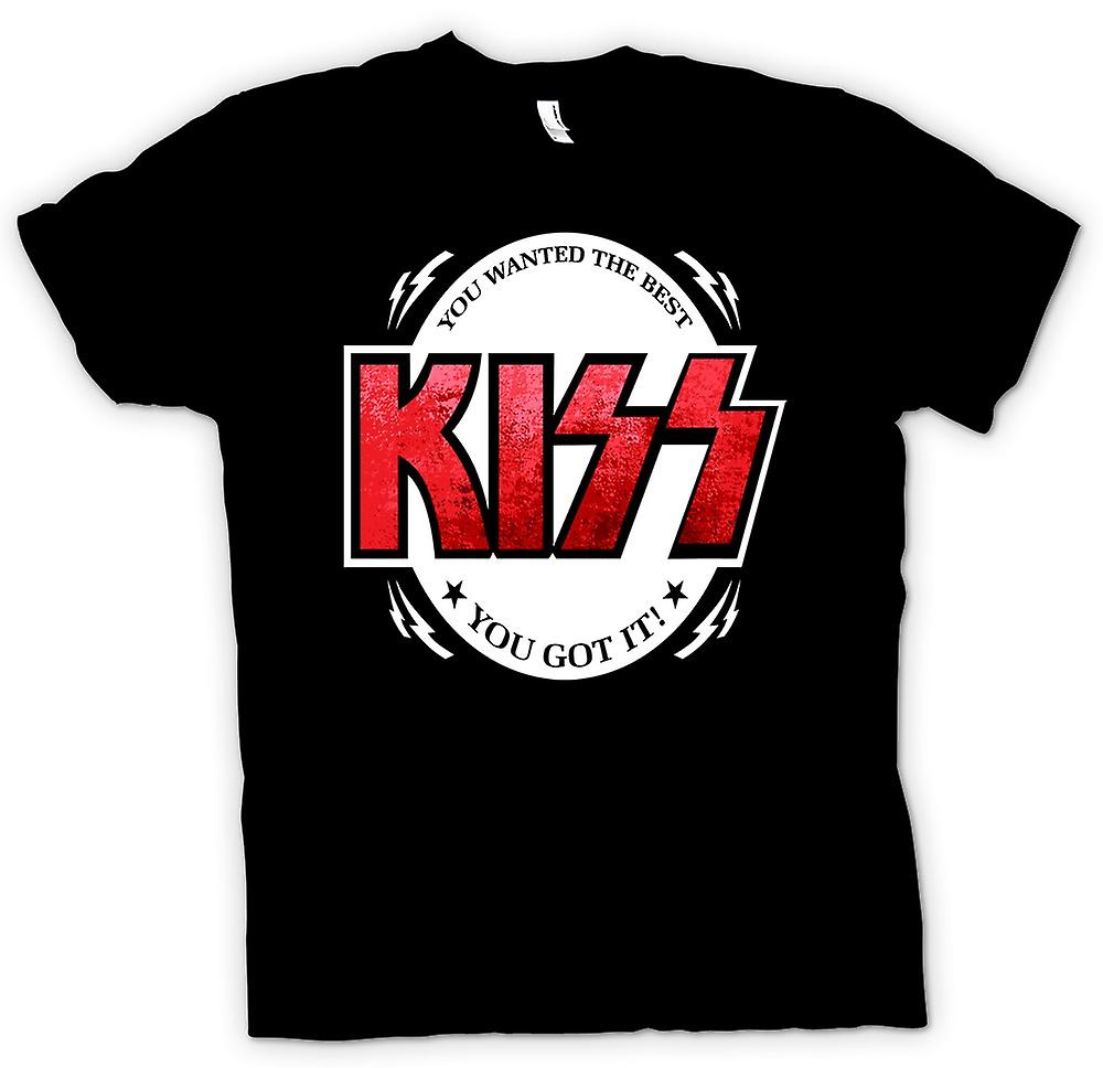 Mens T-shirt - Kiss - Je Wanted The Best