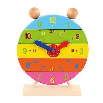 Bigjigs leksaker stapling nummer klockan pedagogiskt lärande träleksak