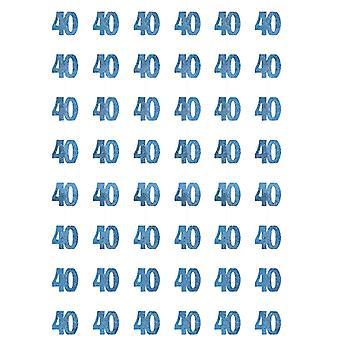 Verjaardag Glitz Blue - 40e verjaardag Prism hangende decoratie