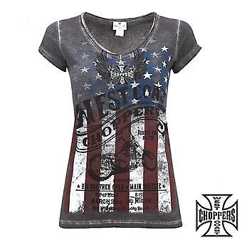 West Coast choppers ladies T-Shirt American pride tee
