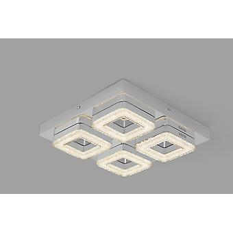 Led ceiling lamp Crilou SQ-M 32x32cm Crystal diffuser 32W chrome 10739