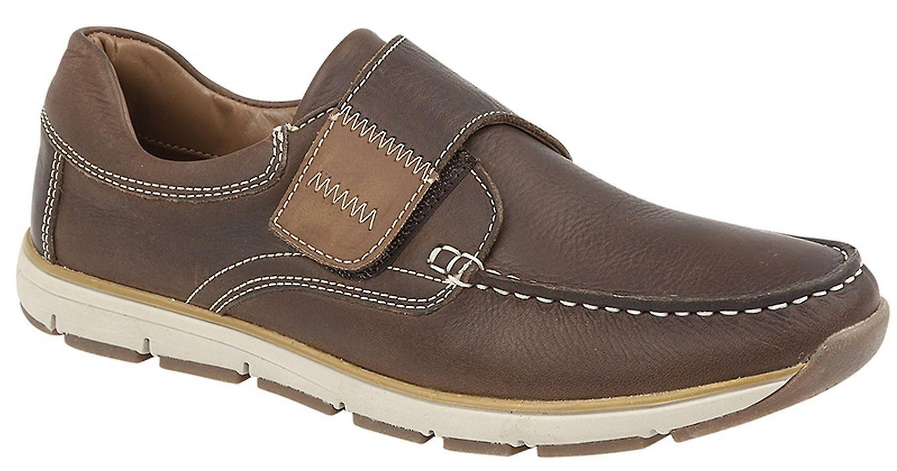 Touch Casual Moccasin Leather Mens Lightweight Apron Fastening Boat Shoes 0qxtTBw