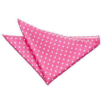 Hot Pink Polka Dot Pocket Square