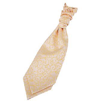 Gold pyörre ennalta sidottu häät Cravat