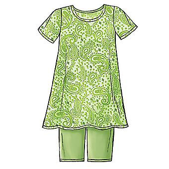Misses'/Misses' Petite Maternity Top, Shorts and Pants-20-22-24 -*SEWING PATTERN*