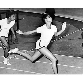 Olympisch kampioen Wilma Rudolph Madison Square Garden NYC 1961 Poster Print by McMahan fotoarchief (10 x 8)
